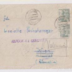Sellos: RARO SOBRE DE CAUDIEL, CASTELLÓN. 1944. CENSURA MILITAR. VER DORSO. Lote 149889074