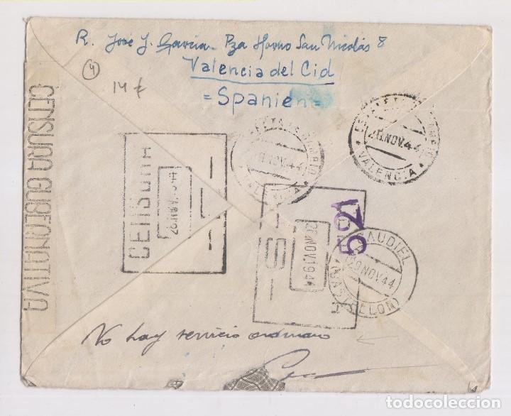 Sellos: RARO SOBRE DE CAUDIEL, CASTELLÓN. 1944. CENSURA MILITAR. VER DORSO - Foto 2 - 149889074