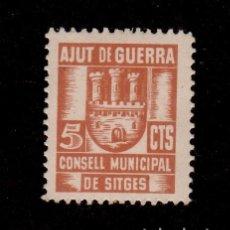 Sellos: CL4-19-02 GUERRA CIVIL SITGES(BARCELONA). 5 CTS AMARILLA CONSELL MUNICIPAL AJUT DE GUERRA FESOFI . Lote 149930665