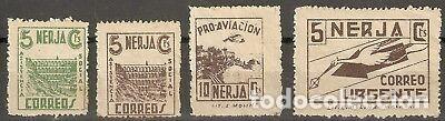 LOTE DE SELLOS GUERRA CIVIL NERJA PRO AVIACIÓN (Sellos - España - Guerra Civil - De 1.936 a 1.939 - Usados)