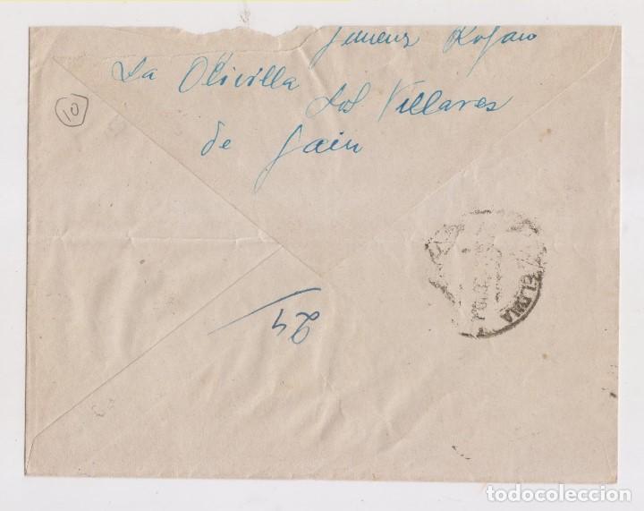 Sellos: SOBRE. ESTAFETA DE CAMPAÑA. XIX DIVISIÓN. LAS VILLAS DE JAÉN. AÑO 1938. GUERRA CIVIL - Foto 2 - 150031146