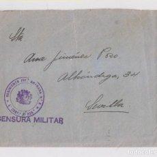 Sellos: SOBRE CONSERVANDO LA CARTA, DEL REGIMIENTO DE INFANTERÍA, GRANADA. CENSURA. 1937. Lote 150591658