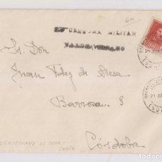 Sellos: SOBRE. RARÍSIMA CENSURA DE VALDEAVELLANO DE TERA, SORIA. 1938. CON LA CARTA. Lote 150593802