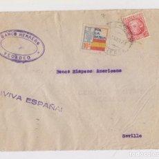 Sellos: SOBRE CON CENSURA MILITAR Y LOCAL DE VEGADEO, ASTURIAS. 1937. Lote 150594798
