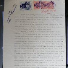 Sellos: ALCOY 1942 SELLOS 1 PESETA CON DE PIE IMPRENTA UGT MUY RAROS CIRCULADOS - TRES SELLOS Y FISCAL. Lote 150620482