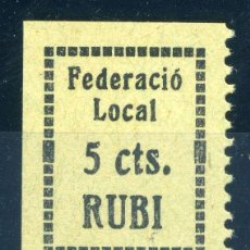 Sellos: ESPAÑA. GUERRA CIVIL. SELLO LOCAL REPUBLICANO DE RUBÍ. EDIFIL Nº1. Lote 151211822