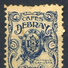 Sellos: ESPAÑA. SELLO PRIMA. CAFÉS DEBRAY. Lote 151234498