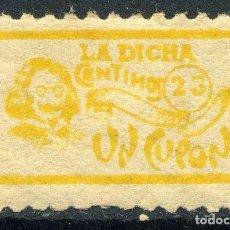 Sellos: ESPAÑA. CUPÓN. LA DICHA. 25CTS. Lote 151234994