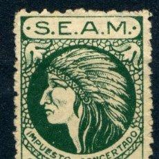 Sellos: ESPAÑA. TIMBRES PRIVADOS. S.E.A.M. 25CTS. Lote 151369446