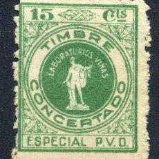 Sellos: ESPAÑA. TIMBRE CONCERTADO. LABORATORIOS VIÑAS (BARCELONA). ESPECIAL P.V.D.. Lote 151371470