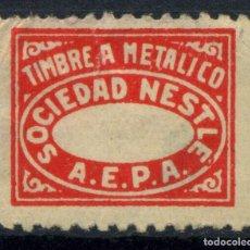 Sellos: ESPAÑA. TIMBRE A METÁLICO. SOCIEDAD NESTLÉ. A.E.P.A.. Lote 151381146
