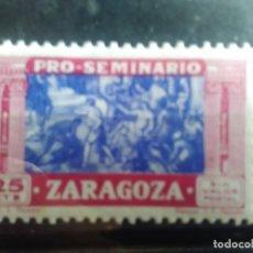 Sellos: PRO SEMINARIO ZARAGOZA - 25 CÉNTIMOS . Lote 151429442
