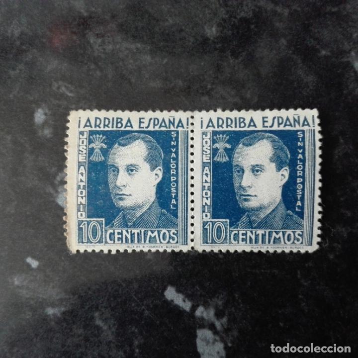 SELLO 10 CENTIMOS JOSE ANTONIO PRIMO DE RIVERA ARRIBA ESPAÑA SIN CIRCULAR (Sellos - España - Guerra Civil - De 1.936 a 1.939 - Nuevos)