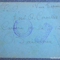Sellos: RARO SELLO BATALLÓN TRABAJADORES Nº 42 (VENCIDOS REPÚBLICA) Y CENSURA MILITAR 1939 OYARZUN RENTERÍA. Lote 151877946