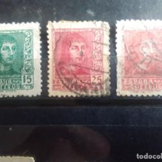 Sellos: EDIFIL 841, 843 Y 844 DE LA SERIE: FERNANDO EL CATÓLICO, AÑO 1938. Lote 151924738