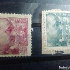 Francobolli: EDIFIL 868 Y 870 DE LA SERIE: GENERAL FRANCO, AÑO 1939. Lote 151945742