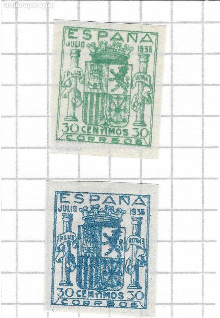EDIFIL NE 56 / NE 57 - ESCUDO DE ESPAÑA (Sellos - España - Guerra Civil - De 1.936 a 1.939 - Nuevos)