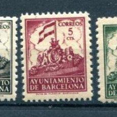 Selos: EDIFIL 24/28 DE BARCELONA. SERIE COMPLETA AÑO 1940. VER DESCRIPCIÓN. Lote 152047518