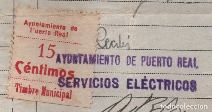PURTO REAL, -CADIZ- 15 CTS, -TIMBRE MUNICIPAL- SERVICIO ELECTRICO, VER FOTOS (Sellos - España - Guerra Civil - De 1.936 a 1.939 - Usados)