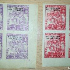 Sellos: ESPAÑA BENEFICENCIA HUÉRFANOS TELÉGRAFO 1938 SOBRECARGA NO VALIDO PARA TASA TELEGRÁFICA. Lote 152477533