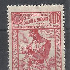 Sellos: COMISSIÓ OFICIAL D´AJUT EUZKADI 10 CTS NUEVO*. Lote 152555634