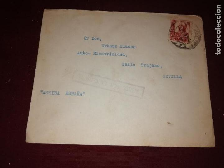 CENSURA MILITAR DE SEVILLA (Sellos - España - Guerra Civil - De 1.936 a 1.939 - Cartas)