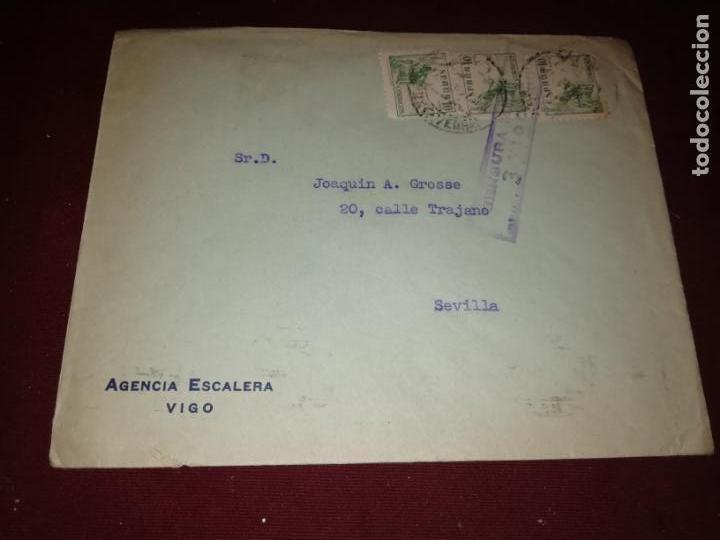 VIGO. CENSURA MILITAR (Sellos - España - Guerra Civil - De 1.936 a 1.939 - Cartas)