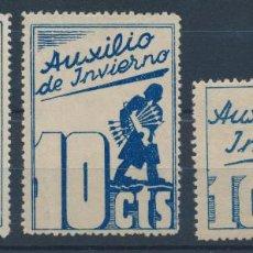 Sellos: LOTE AUXILIO DE INVIERNO - FALANGE ESPAÑOLA DE LAS JONS - 10CTS MNH** MLH MH* - 2 ESCANEOS. Lote 152652858