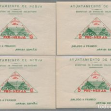 Sellos: LOTE GUERRA CIVIL - PRO NERJA 1938 5CTS - X4 HOJAS MNH** - 2 ESCANEOS. Lote 152658382