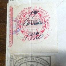 Sellos: COLEGIO NOTARIAL DEL TERRITORIO DE MADRID, DIFERENTES, SOBRE DOCUMENTO. Lote 152719794