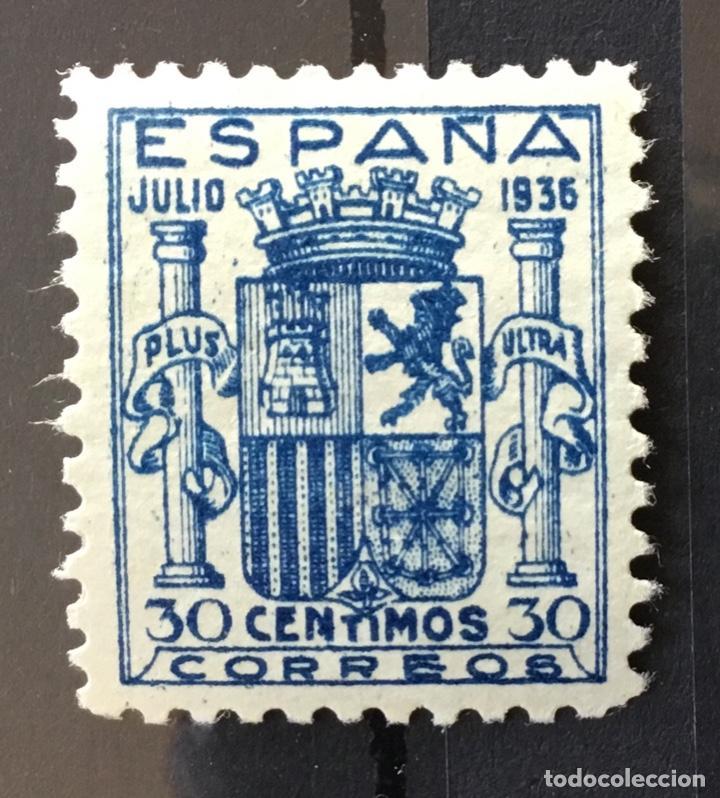 ESPAÑA 1936 - ESCUDO DE ESPAÑA. GRANADA. - EDIFIL 801** MNH - DOS CERTIFICADOS - LUJO (Sellos - España - Guerra Civil - De 1.936 a 1.939 - Nuevos)
