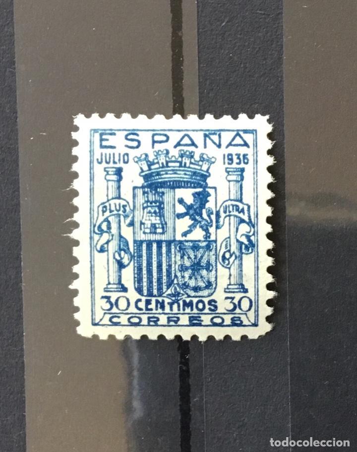 Sellos: España 1936 - Escudo de España. Granada. - Edifil 801** MNH - DOS CERTIFICADOS - LUJO - Foto 4 - 152735782