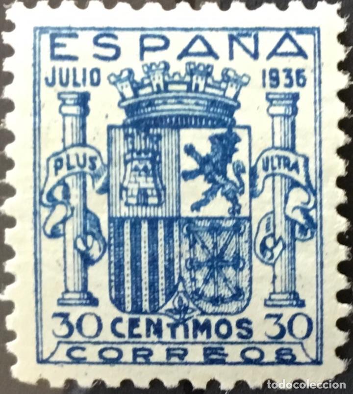 Sellos: España 1936 - Escudo de España. Granada. - Edifil 801** MNH - DOS CERTIFICADOS - LUJO - Foto 5 - 152735782