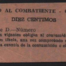 Sellos: GRANADA, 10 CTS,. SUBSIDIO AL COMBATIENTE-TIPO I, VER FOTO. Lote 152740490