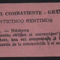 Sellos: GRANADA, 25 CTS,. SUBSIDIO AL COMBATIENTE-, VER FOTO. Lote 152740714