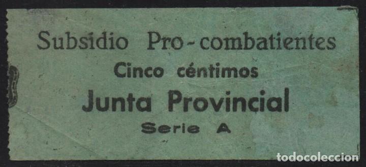 GRANADA, 5 CTS,. SUBSIDIO AL COMBATIENTE-, VER FOTO (Sellos - España - Guerra Civil - De 1.936 a 1.939 - Usados)