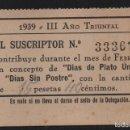 Sellos: SEVILLA, 15 PTA, -DIA PLATO UNICO- 1939. VER FOTO. Lote 152745302