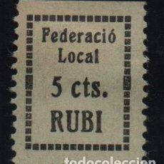 Sellos: RUBI, 5 CTS. FEDERACIO LOCAL, VER FOTO. Lote 152750430
