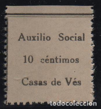 CASAS DE VES, 10 CTS, AUXILIO SOCIAL, VER FOTO (Sellos - España - Guerra Civil - De 1.936 a 1.939 - Usados)