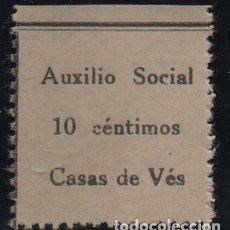 Sellos: CASAS DE VES, 10 CTS, AUXILIO SOCIAL, VER FOTO. Lote 152751050