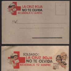 Sellos: CARTA Y SOBRE, CRUZ ROJA, SOLDADO:LA CRUZ ROJA NO TE OLVIDA, SIN CIRCULAR, VER FOTOS. Lote 152879366