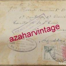 Sellos: SOBRE CIRCULADO ENTRE LOS PALACIOS Y CERRO MURIANO, 1938, CENSURA MILITAR DE DOS HERMANAS. Lote 153934738