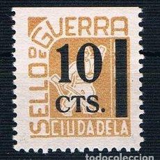 Selos: GUERRA CIVIL SELLO LOCAL CIUDADELA SELLO DE GUERRA 10 CTS ** LOT006. Lote 153977422