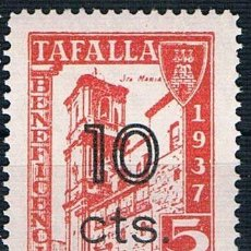 Sellos: GUERRA CIVIL. SELLO LOCAL TAFALLA BENEFICENCIA 1937 SOBRECARGA 5 CTS 10 CTS ** LOT006. Lote 155592406