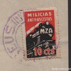 Sellos: REUS, CONSIGNATARIO, SELLO, MILICIAS ANTIFASCISTA, 10 CTS, VER FOTOS. Lote 154266298