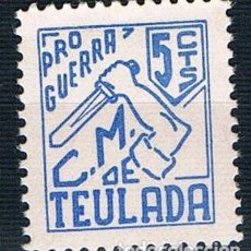 Sellos: GUERRA CIVIL SELLO LOCAL TEULADA PRO GUERRA 5 CTS ** LOT006. Lote 154402590
