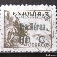 Sellos: CANARIAS, EDIFIL 45, USADO. AÉREO. NACIONAL.. Lote 154483630