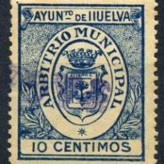 Briefmarken - ESPAÑA. GUERRA CIVIL. HUELVA. MUN. 10cts AZUL OSCURO - 154781818