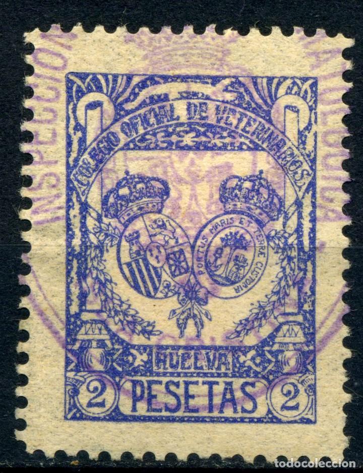 ESPAÑA. GUERRA CIVIL. HUELVA. MUN. 2PTAS (Sellos - España - Guerra Civil - Locales - Usados)