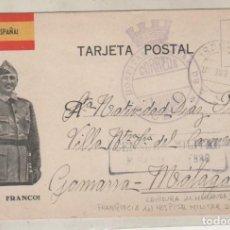 Sellos: TARJETA POSTAL PATRIOTICA FRANCO CON CENSURA MIRANDA DE EBRO, FRANQUICIA HOSPITAL MILITAR OÑA.. Lote 155059978